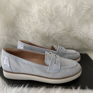 Naturalizer Zoren Suede Patent Leather Loafers 9